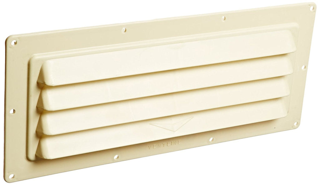 RV Range Vent - Louvered Style - Colonial White  V2018-02