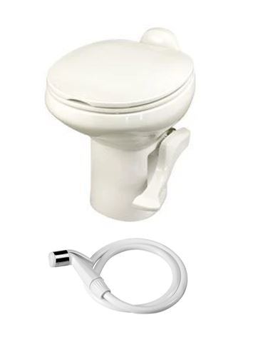 Thetford Style II Hi RV Toilet - With Spray - Bone 42064