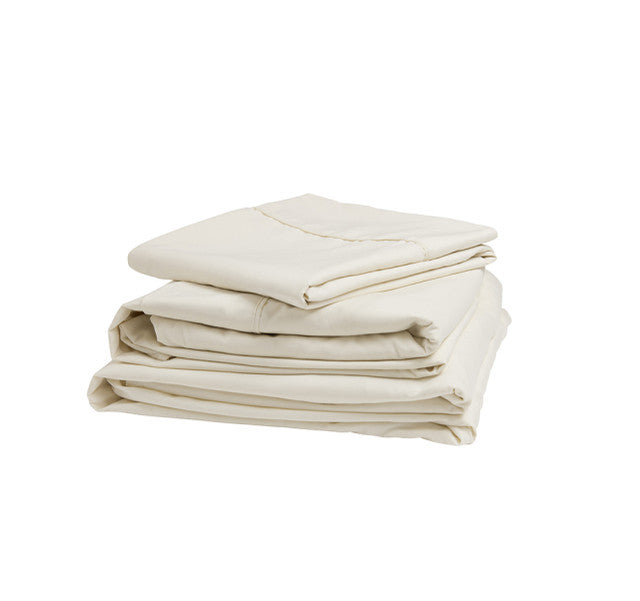 Ivory Microfiber Sheet Set - Short Queen