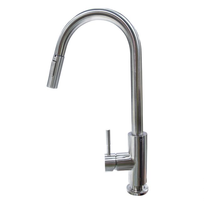 Pull Down Single Hole Bullet Faucet - Stainless Steel 719333