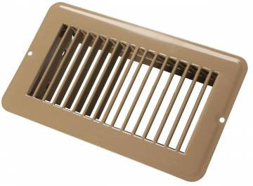 "Floor Register Undampered Metal - 4"" X 8"" - Brown  65385"