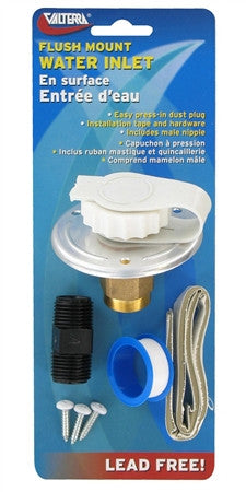 City Water Inlet for RV Fresh Water Inlet - White  A01-0170LFVP