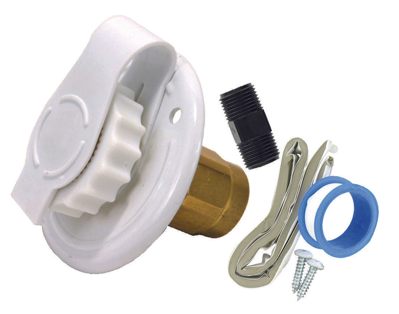 "City Water Inlet - 2-3/4"" - Flange - FPT - White"