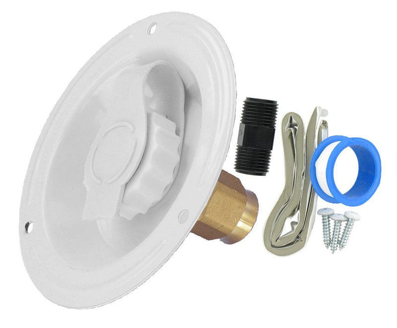City Water Inlet - Recessed Flange - FPT - White