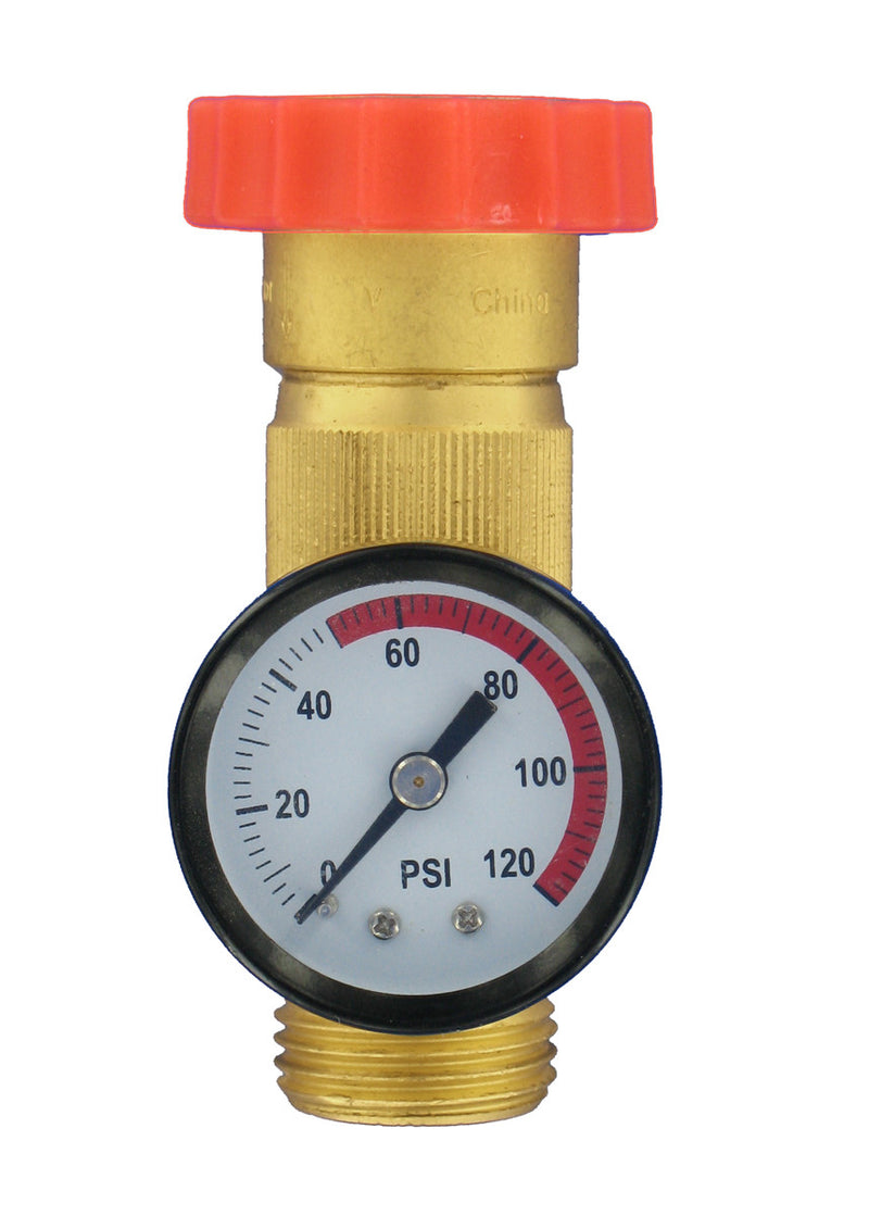 RV Fresh Water Regulator with Guage  A01-1124VP