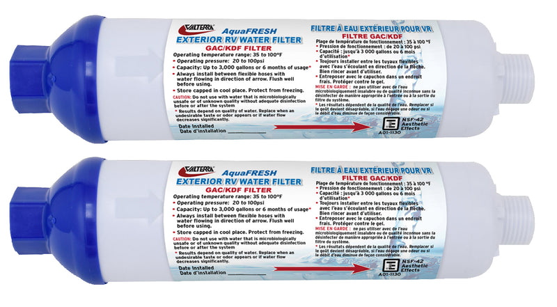 AquaFresh Exterior Water Filter Kit - 2 Pack A01-1131VP