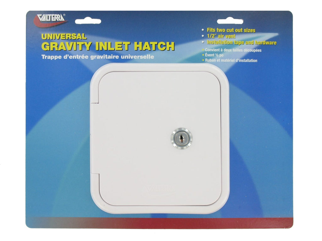 Gravity/City Water Inlet Hatch - Metal - White