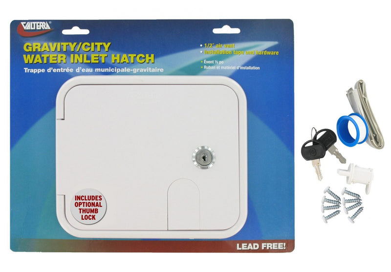 Gravity/City Water Inlet Hatch - Plastic - White