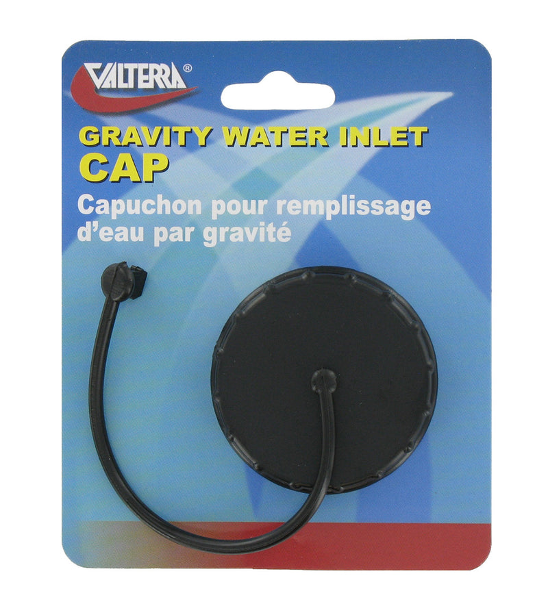 Gravity Fill Replacement Cap for RV Fresh Water Inlet - Black