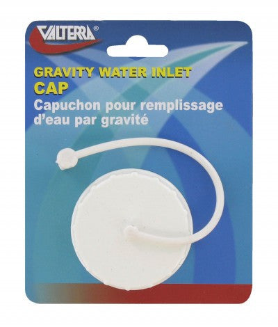 Gravity Fill Replacement Cap for RV Fresh Water Inlet - White