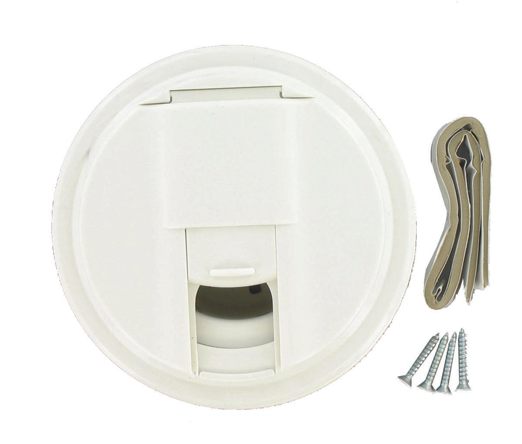 Cable Hatch - Universal Round - White