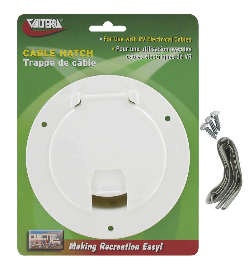Cable Hatch - Large Round - White