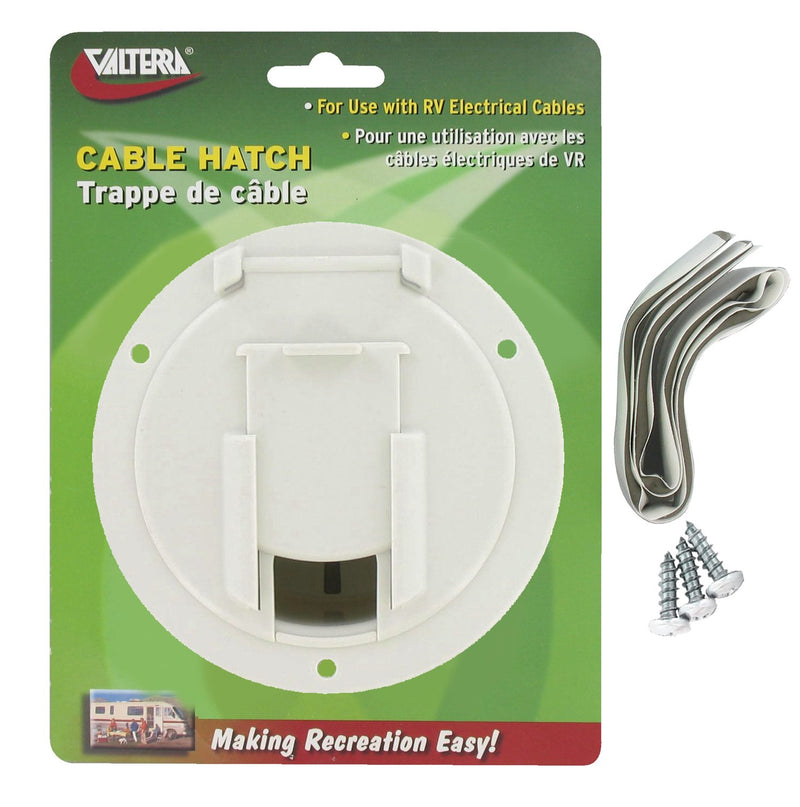 Cable Hatch - Medium Round - White