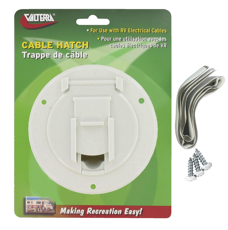 Cable Hatch - Small Round - White