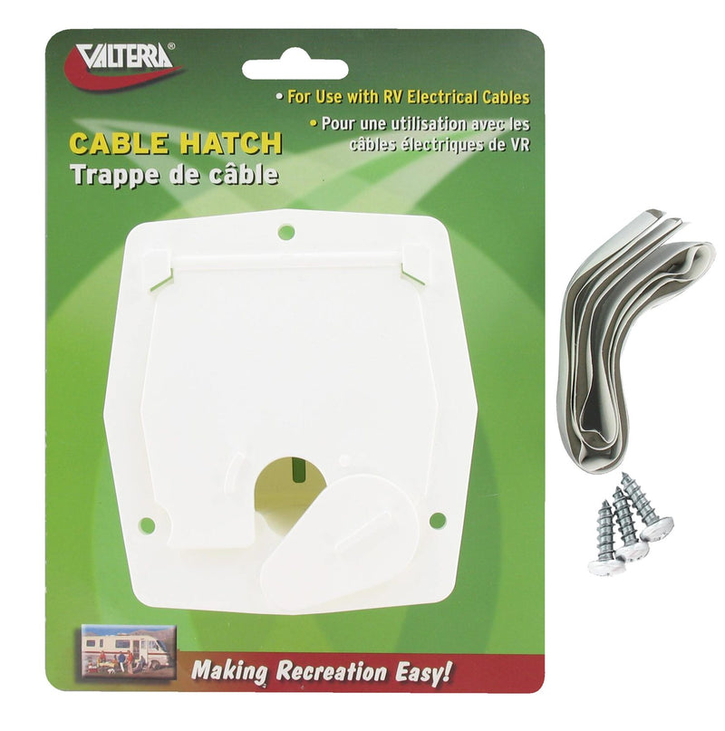 Cable Hatch - Small Square - White