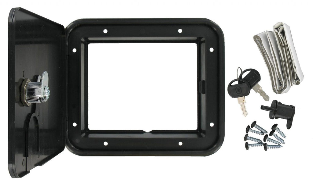 Cable Hatch - Medium Square - Black