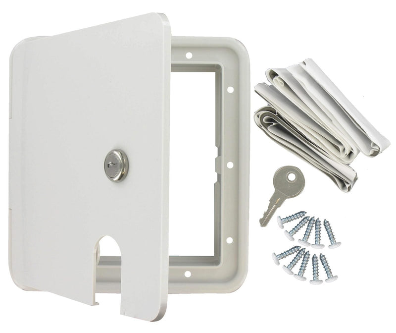 Cable Hatch - Large Square - White