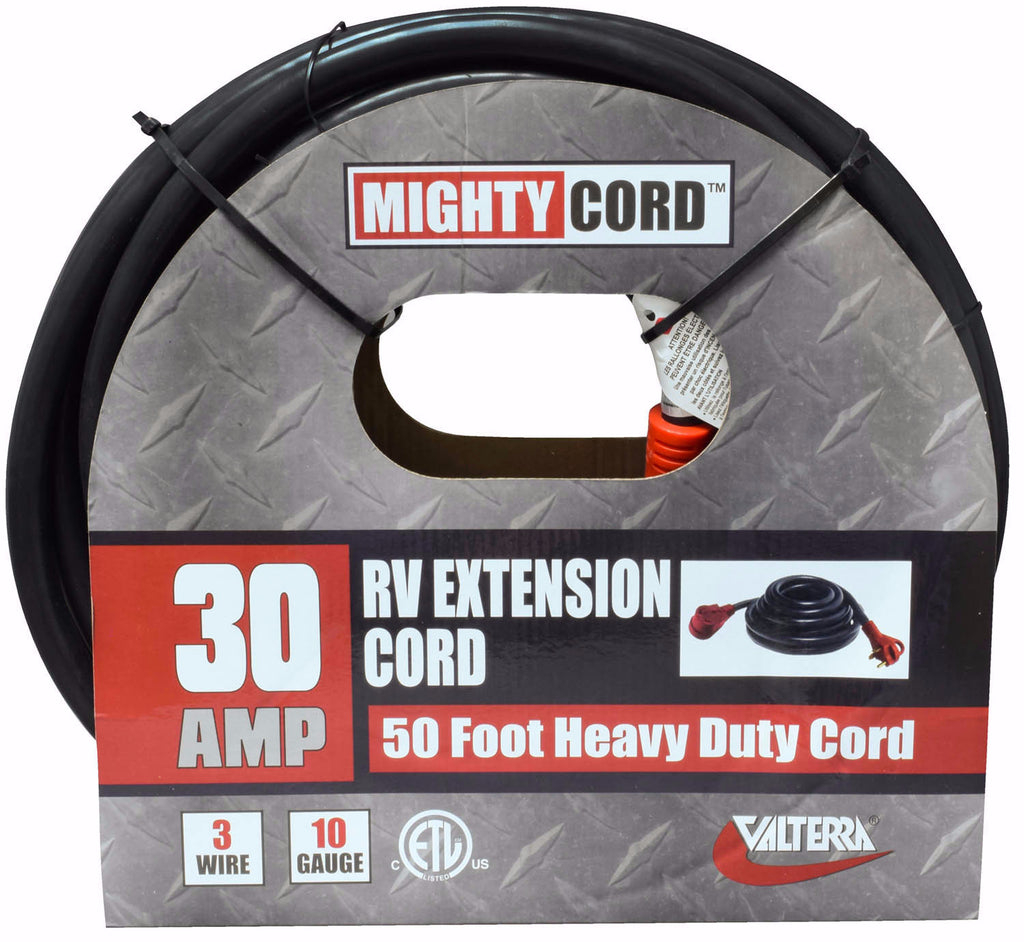 110 Volt RV Extension Cord - 30 Amp 50 foot