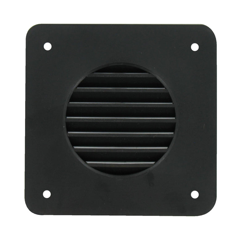 Battery Box Vent Louver Square - Black