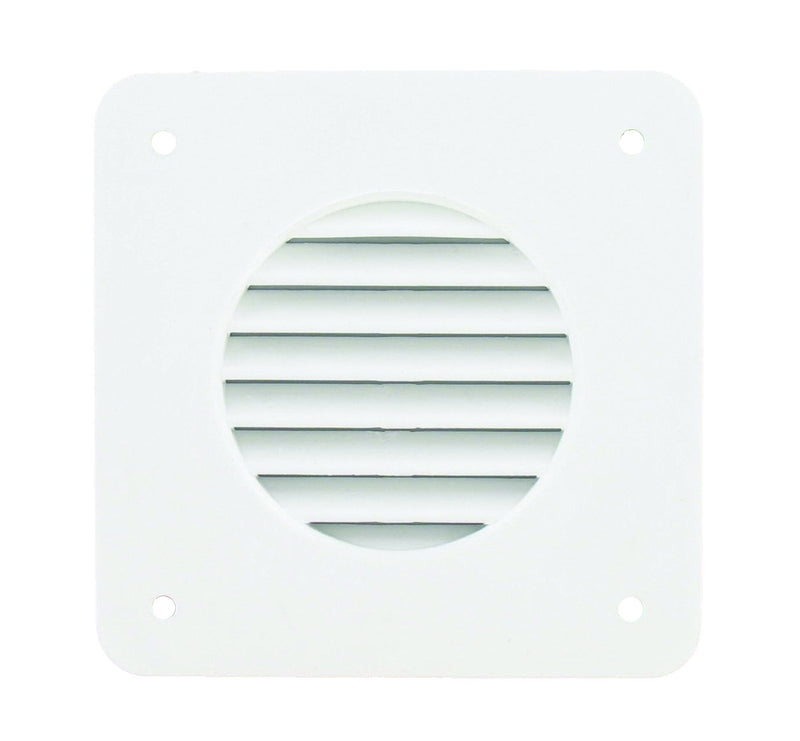 Battery Box Vent Louver Square - White