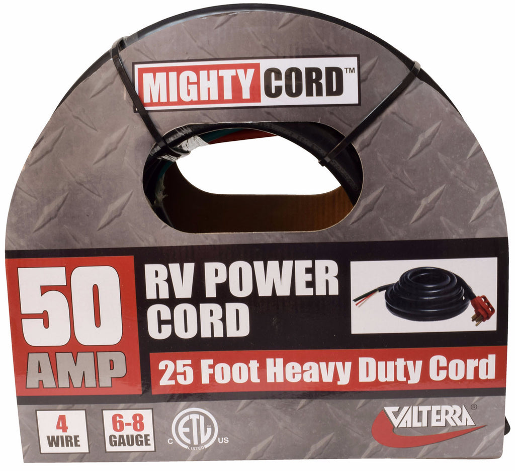 RV Power Cord - 50 Amp Bare Wire 25 foot  A10-5025END