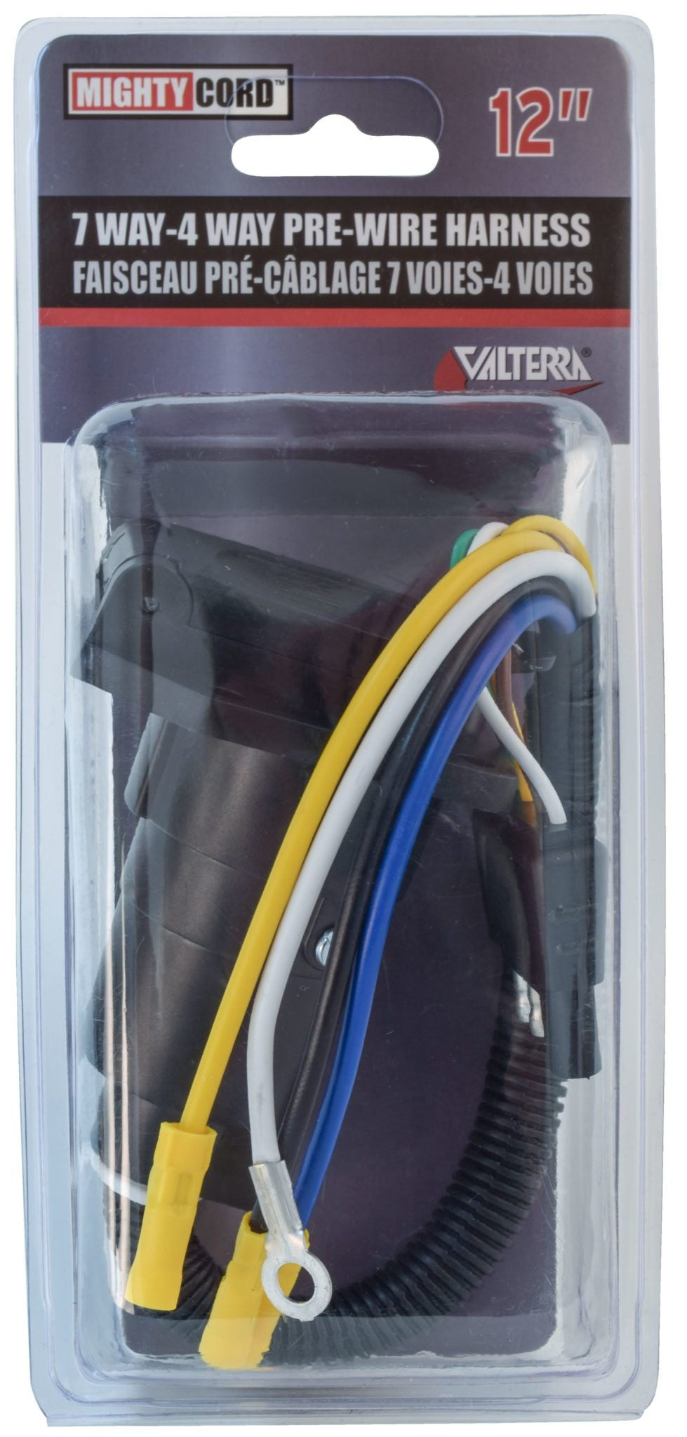 Mighty Cord 7-Way to 4-Way Pre-Wire Harness - 12""