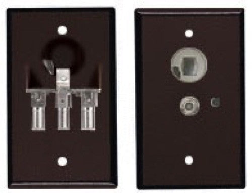Brown TV Amplifier Power Receptacle
