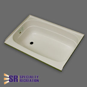 "Bath Tub - Parchment - Left Hand Drain - 24"" x 32"" - BT2432PL"