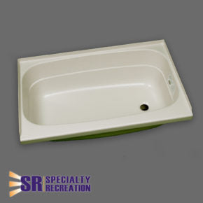 "Bath Tub - Parchment - Right Hand Drain - 24"" x 32"" - BT2432PR"