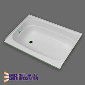 "Bath Tub - White - Left Hand Drain - 24"" x 32"" - BT2432WL"