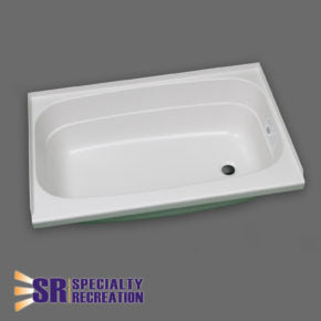 "Bath Tub - White - Right Hand Drain - 24"" x 32"" - BT2432WR"