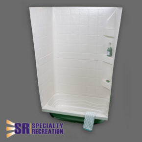 "Tub Wall - White - 24"" x 38"" x 59"" - TW2438W"