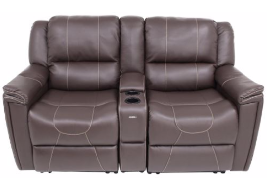 Theater Seating - 3 Piece Set - Majestic Chocolate - 66""