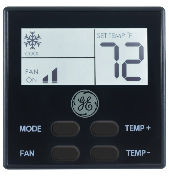 GE Air conditioner Wall Thermostat - Black - RARWT2B