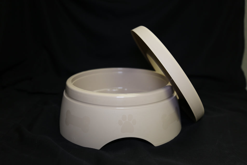 Non-Spill Water Bowl - Beige/Blue/Clear/Pink