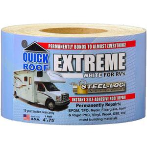 "Quick Roof Extreme Repair Tape - White - 4"" x 75' Roll - UBE475"