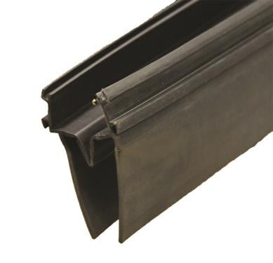"Double EKD Base - w/ 2-3/4"" Wiper - Black - 14' Roll - 1-1/2"" x 3-1/2"" x 14' - 018-2082-168"