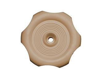 RV Window Crank Knob - Beige
