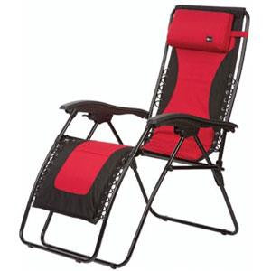 Laguna Recliner Padded - Red/Black XL