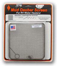 Mud Dauber Insect Flush-Mount Screen for 6 gallon RV Water Heater - Suburban and Atwood