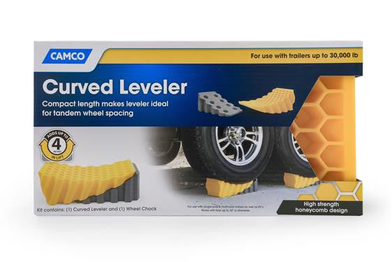 Curved Leveler and Wheel Chock  44423