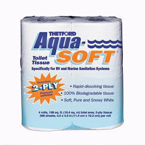 Aqua-Soft 2-ply RV Toilet Tissue - 4 Pack