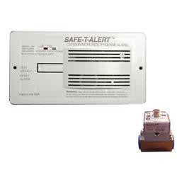 Professional LP/CO Alarm w/ Relay - Flush Mount - White - 70-742-P-R-WT-KIT