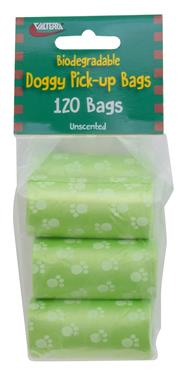 Doggy Pick-up Bags - 6 Pack - 120 Bags