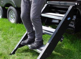 "27"" MorRyde Fold up RV Step - 3 Step - STP-3-27-02H"