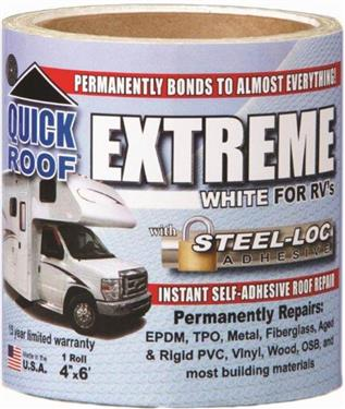 "Quick Roof Extreme Repair Tape - White - 4"" x 6' Roll - UBE406"
