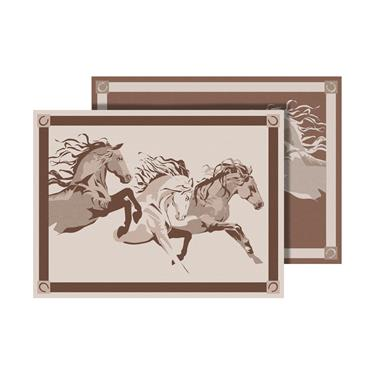 Galloping Horse Mat - 9' X 12' - Brown/Beige