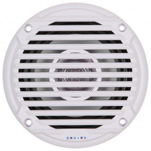 Dual Cone Waterproof Speaker - White - 5""