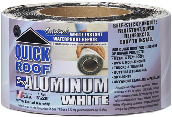 "Quick Roof Repair Tape - 6"" x 25' - White - WQR625"