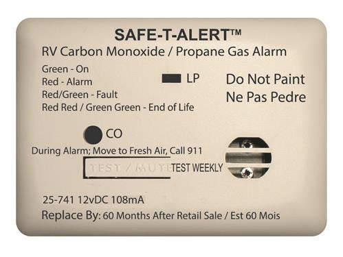 Mini Dual LP/CO Alarm - White - 25-741-WT